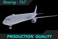 aircraft 767 engines 3d fbx