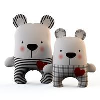 bears textile 3ds