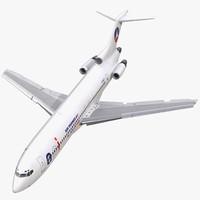 boeing 727 200 air france 3d model