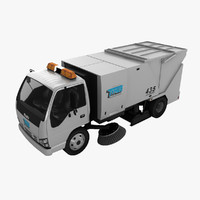 3d isuzu street sweeper model