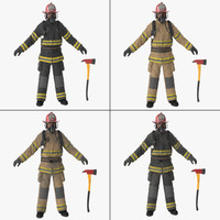3d firefighter fighter