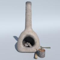 3d furnace model