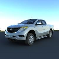 3d model mazda bt 50 2012