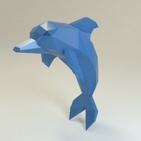 dolphin low poly style