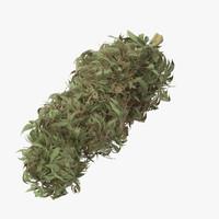 3d model marijuana bud 01 03