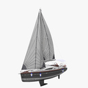 sailing yacht 3D models