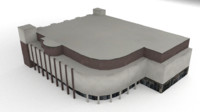 3d model of shopping games building
