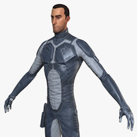 stylised sci-fi soldier 3d max