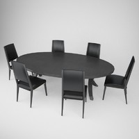 fendi casa table chair c4d
