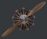 3d model engine propeller