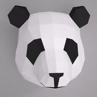 panda paper craft 3d max