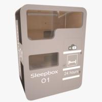 sleepbox hotels 3d model