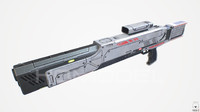 3d model medium laser rifle gun