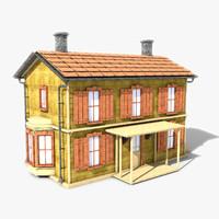 3d c4d story building house