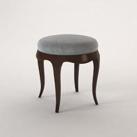 3d model baker stool vanity 3482