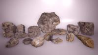obj scanned rock formations