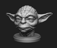 head character master yoda 3d model