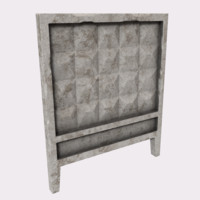 3d model old concrete wall