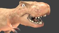 free tyrannosaurio dinosaurio 3d model