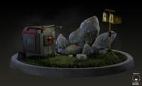 Environment props (generator,spotlight)