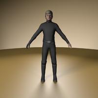 3d luke skywalker model