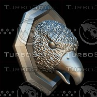 3d model head sculpture bird