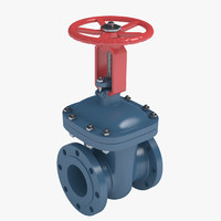 gate valve 3d max