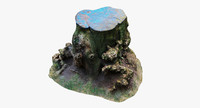 wood stump 3d model