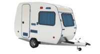 hobby caravan 3d model