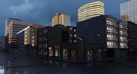 3d city block model