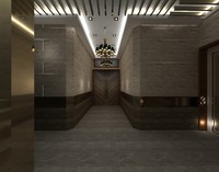 3d hallway hall
