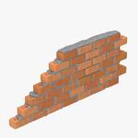 3d model brick section 01