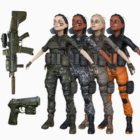3d model ready soldier options