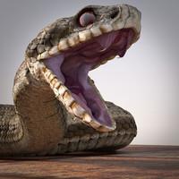 adder viper snake 3d model