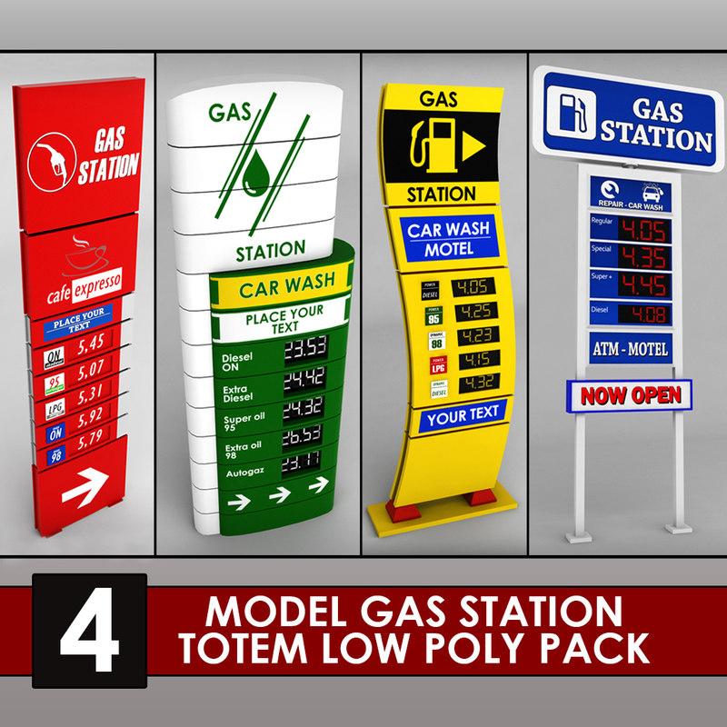 Gas station price sign totem low poly 4 01.jpg