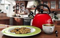 tetera caf galletas y 3d model