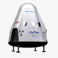 space dragon 2 capsule 3d model