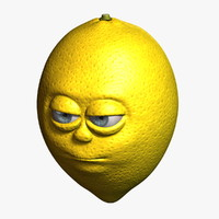 lemon cartoon 3d max