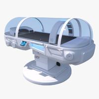 3d sci fi medical medpod model