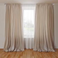 curtain 3d obj