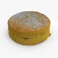victoria sponge cake dxf