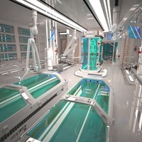 3d futuristic laboratory interior 2 model