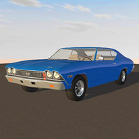 3d car muscle chevelle model