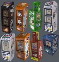 8 Newspaper Bins (Game-Ready_
