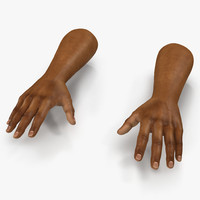 3d african man hands 3 model