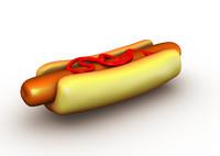 free hotdog frankfurt 3d model