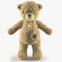 3d model hair teddy