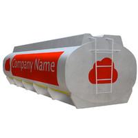 max pbr uv-textured gasoline tanker