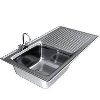 pbr kitchen sink materials 3d model