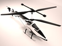 3d model helicopter remote control toy